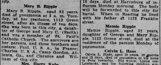 Mary Ripple obit