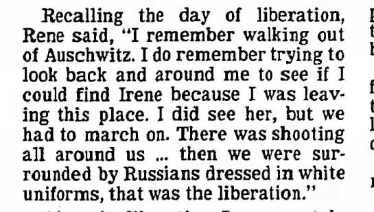 Twin Rene Guttman recalls the day of Auschwitz liberation -
