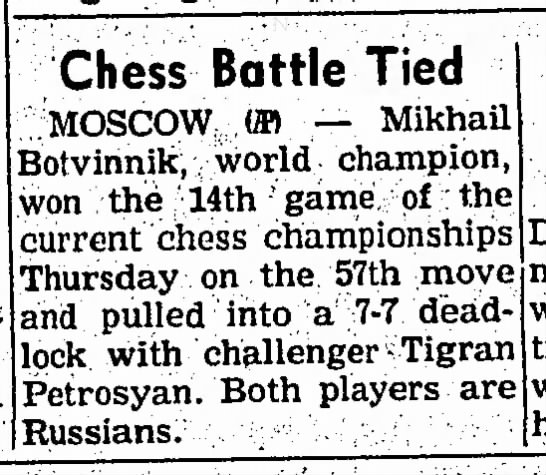 Chess Battle Tied -