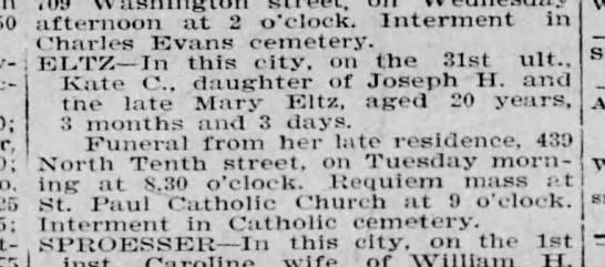 5 jan 1904, page 6, col 5, Deaths -