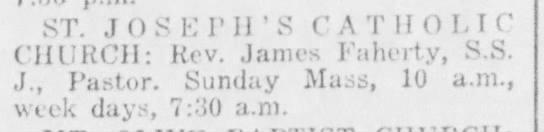 JAMES FAHERTY, priest TX 1956 -