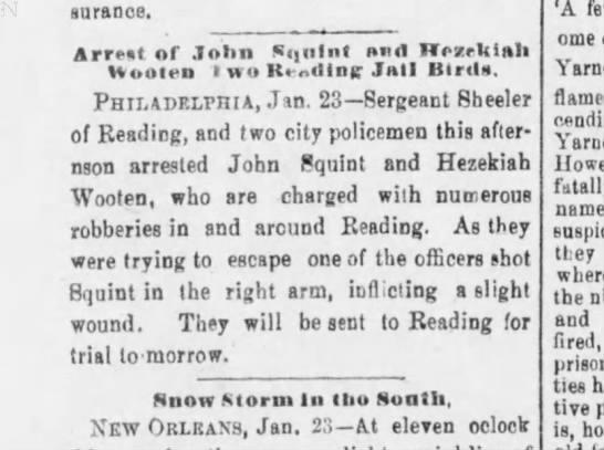 John Squint arrest -