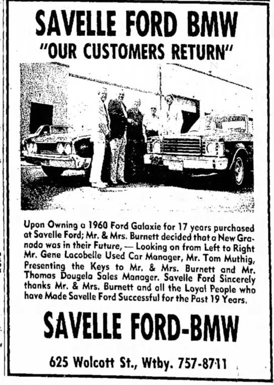 "- SAVELLE FORD BMW ""OUR CUSTOMERS RETURN"" ...."