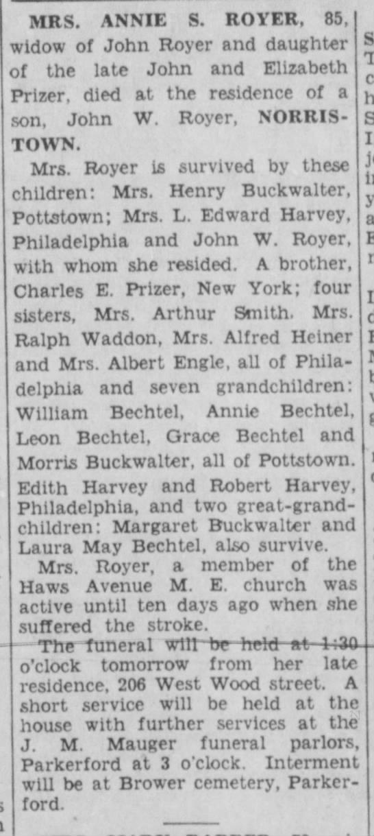 Possible Buckwalter ancestors -