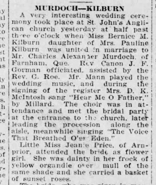 1922-10-11 - Mrs D K McIntosh - Music - Ottawa Citizen p 19 -