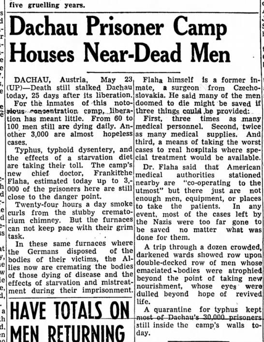 Dachau death toll horrors -