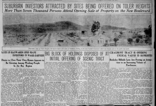 Opening Sale of Toler Heights Oct 13, 1907 -