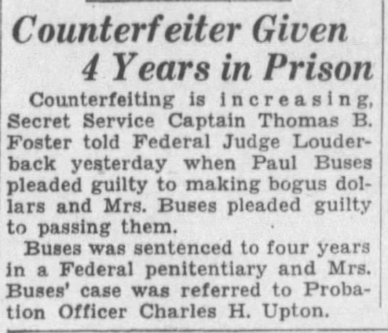 Buses_Paul - Counterfeiter - San Francisco Examiner - 11 Oct 1932 -
