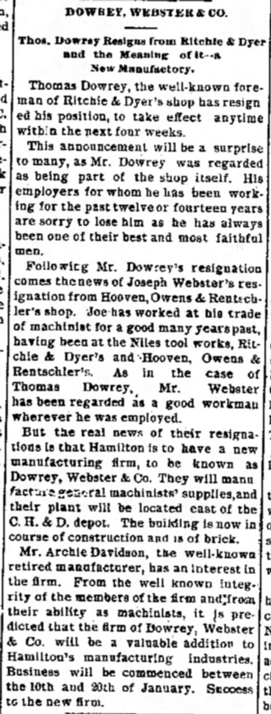 Dowrey and Webster and Co -