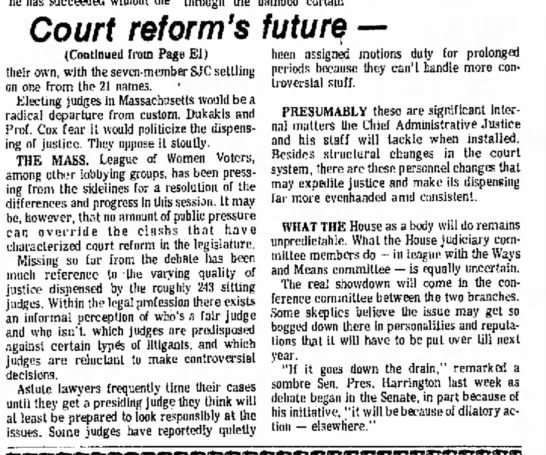 Obstacles to judicial reform in Massachusetts in 1977 (page 2) -