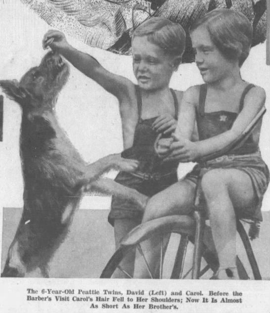 Carol Peattie and her brother (Phantom Barber) -