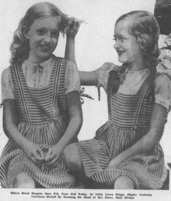 Mary Evelyn Briggs and her sister Laura (Phantom Barber) -