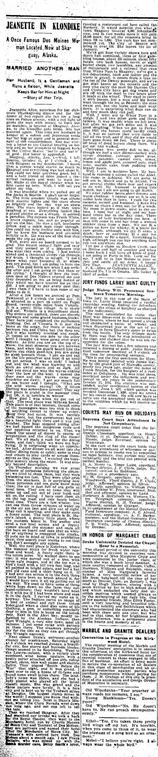 Jeannette Allen Marries