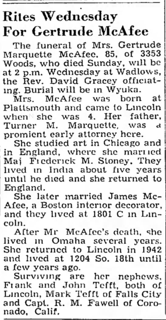 Lincoln Journal, 24May1954, p. 4 -