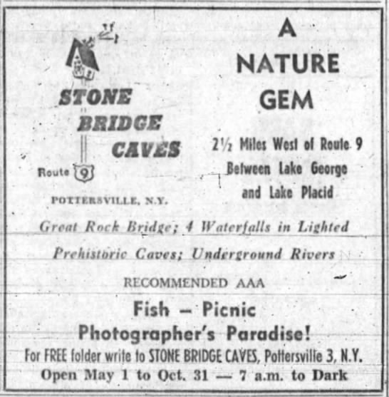 Stone Bridge and Caves News -
