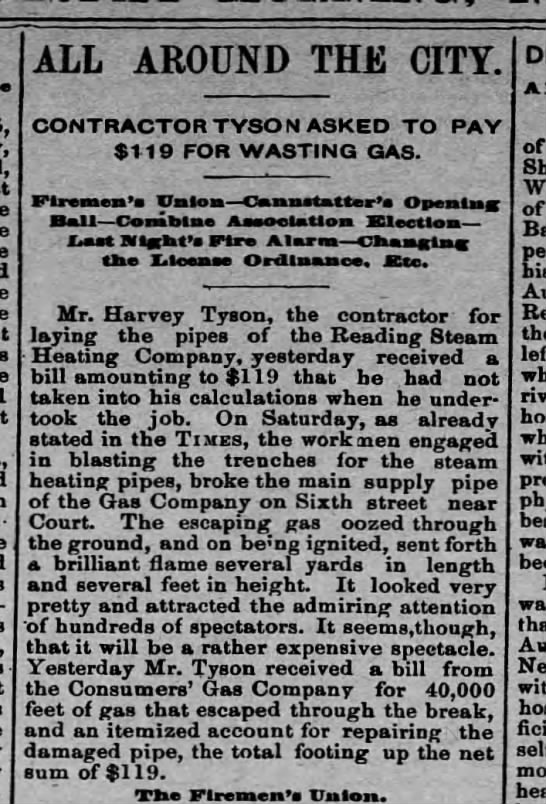 Harvey Tyson asked to pay -