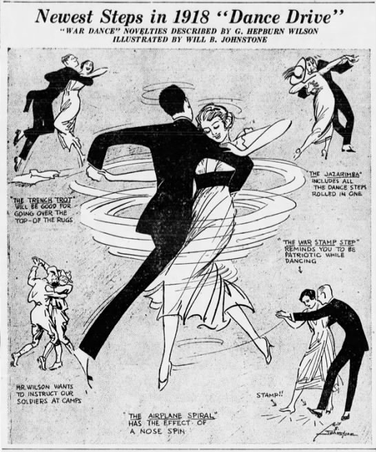 "Newest Steps in 1918 ""Dance Drive"" -"