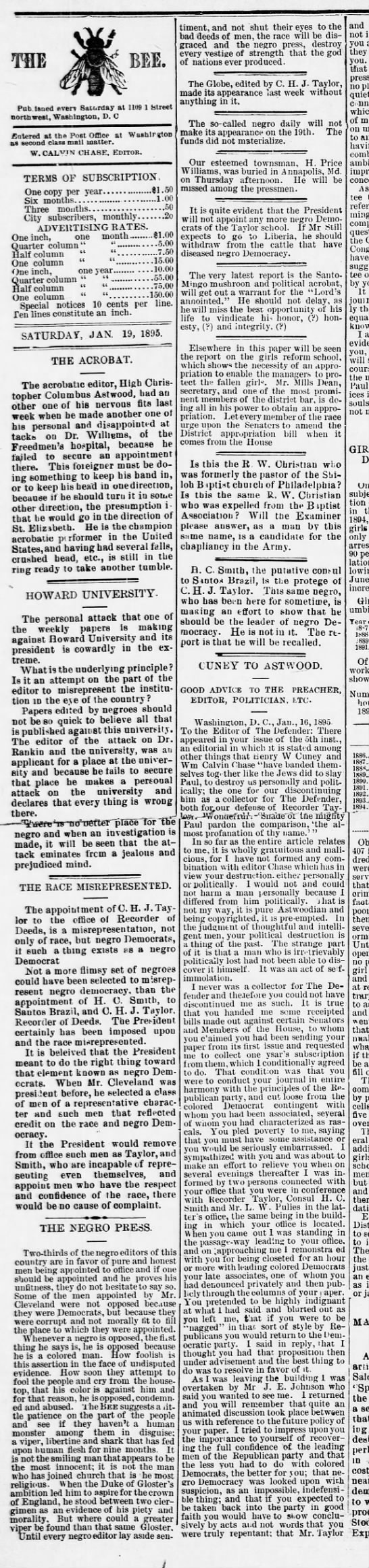 1895-01-19-WashingtonBee-p2-MiscCHJTaylor -