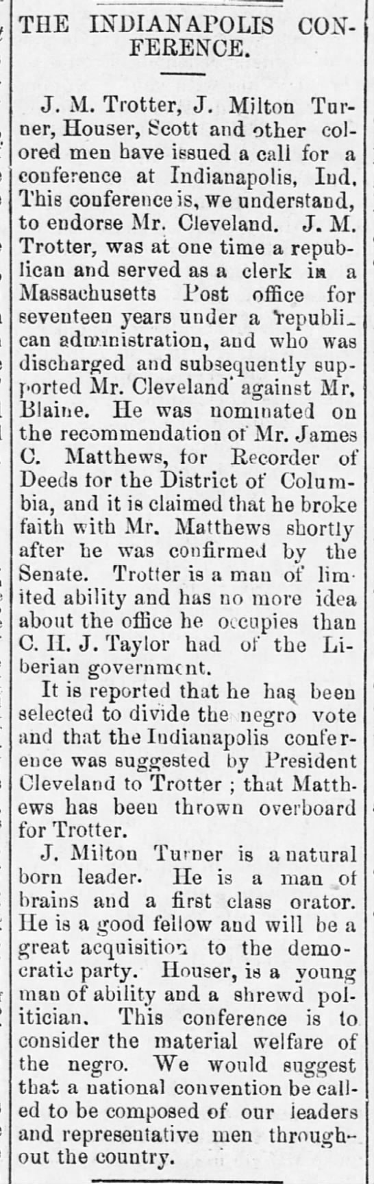 1888-07-07-WashingtonBee-p2-IndianapolisConference -
