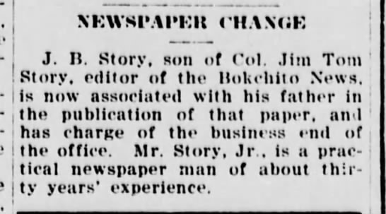 Jim Tom June 7, 1918, Durant Weekly News -