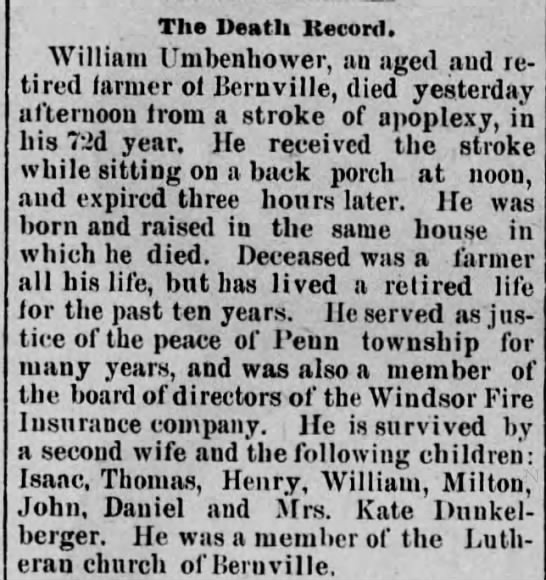 William Umbenhower obit