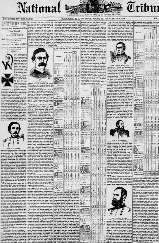 1892 08 25 The National Tribune Civil War History Blick