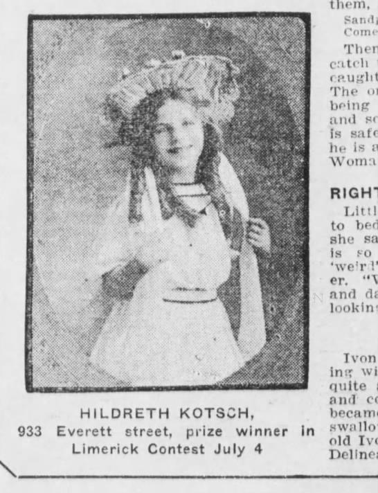 Daughter of Georgia Taylor Kotsch -