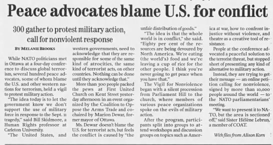 COAT re No to NATO -