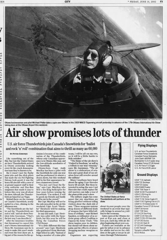 COAT opposition to air show -
