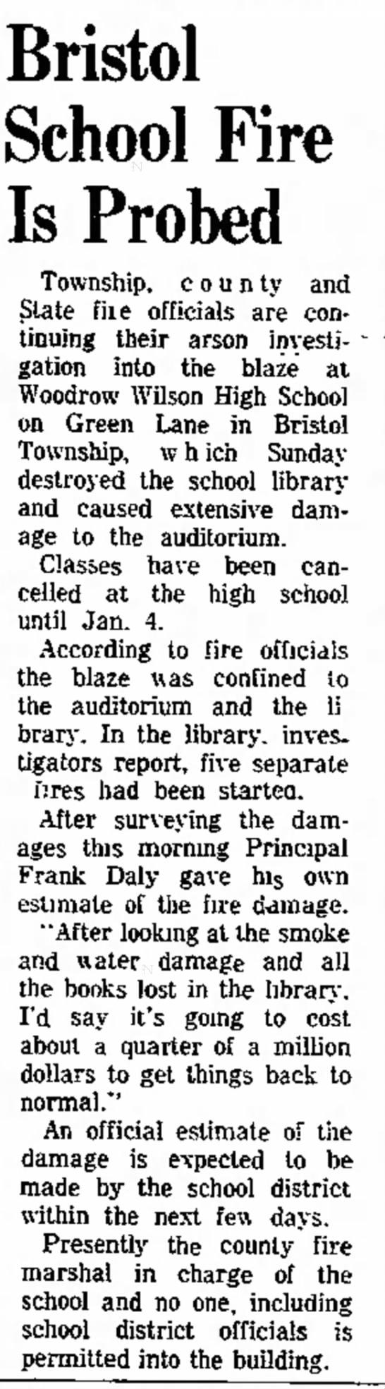 Dec.21, 1970 Wilson Fire -