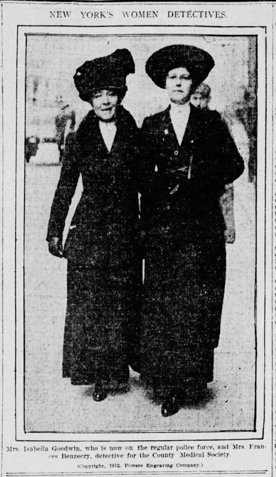 Photo of Isabella Goodwin and Frances Benzecry, 1912 -