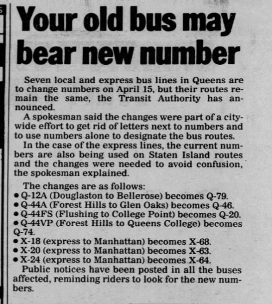 Your old bus may bear new number -