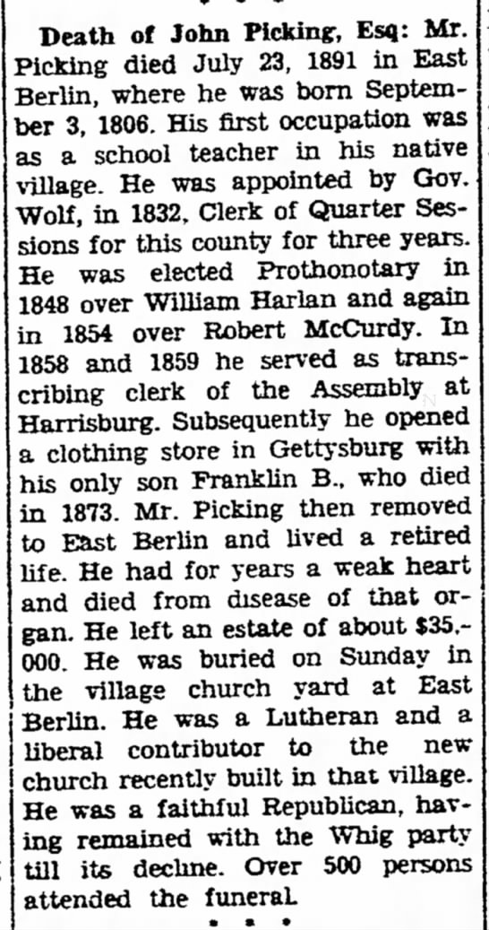 The Gettysburg Times, July 29, 1941 Fifty Years Ago -