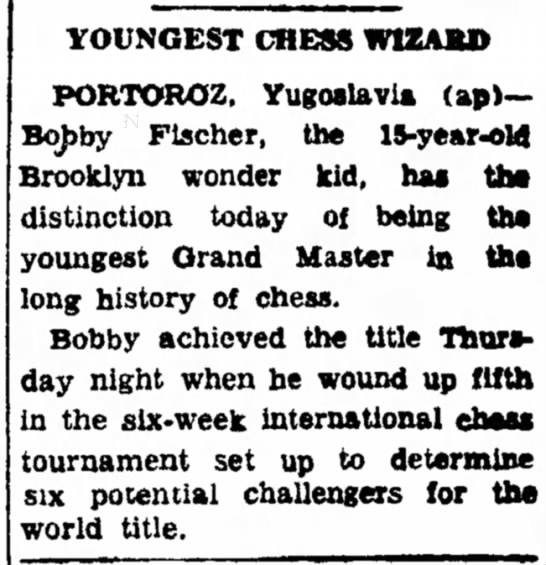 Youngest Chess Wizard -