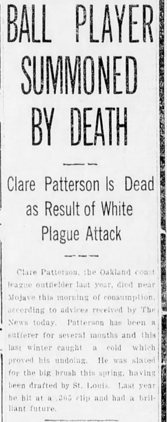 Death notice from San Bernadino, CA March28 1913 -