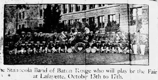 Oct 9, 1926 Stanacola Band of Baton Rouge. Page 8. -