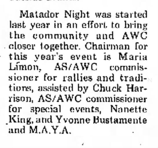 Nanette King - Matador Night was started last year in an...