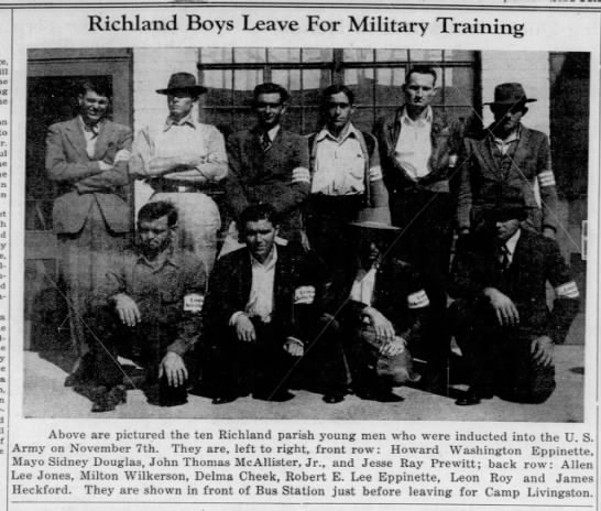 Richland Boys Leave For Military Training -