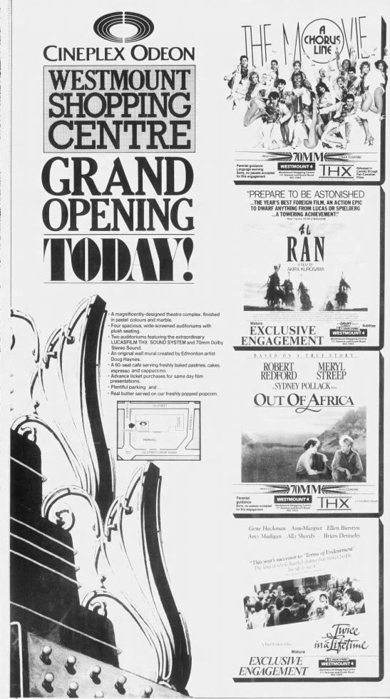 Cineplex Westmount opening -