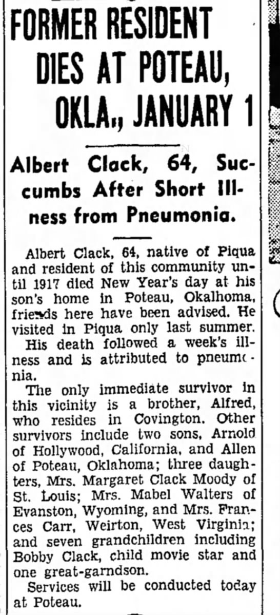 Piqua Daily Call 4 Jan 1941 -