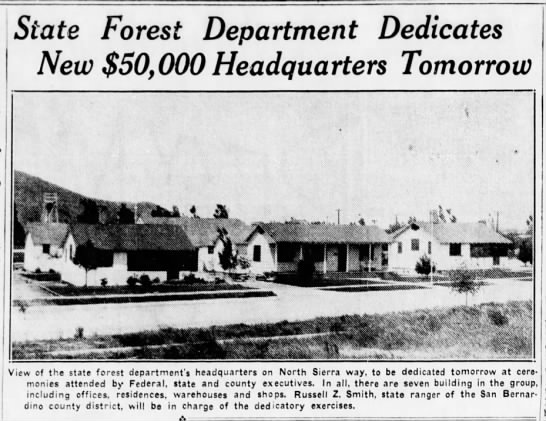 1937-4-18 State Forestry Department Dedicates New $50,000 Headquarters Tomorrow PIC -