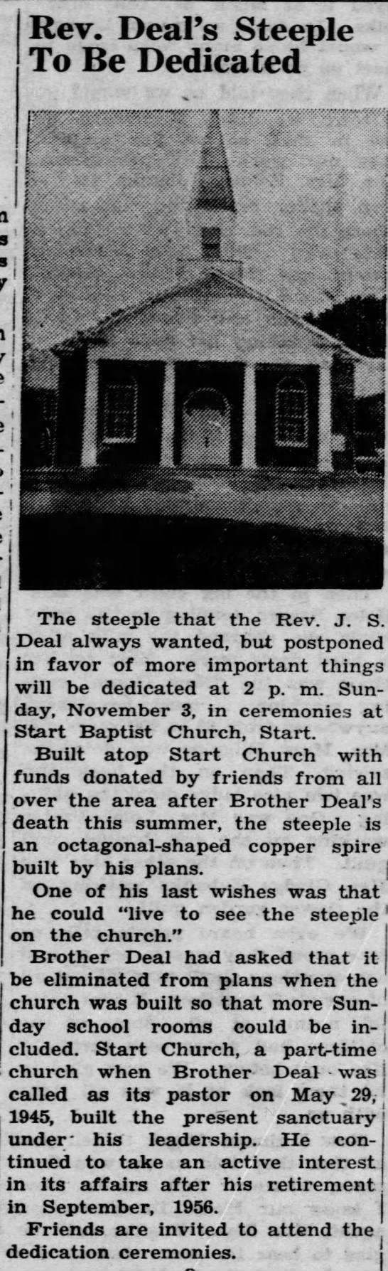 Start Baptist Steeple -