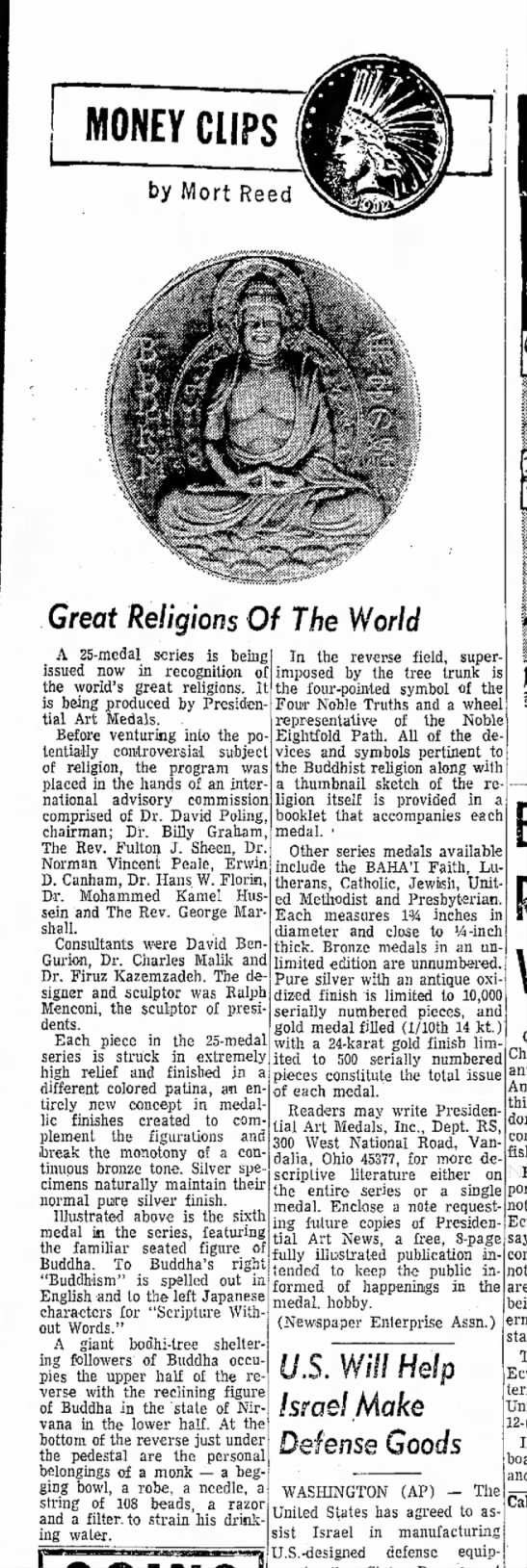 1972-01-15 'Great Religions of the World'. Dr. Kazemzadeh mentioned. -
