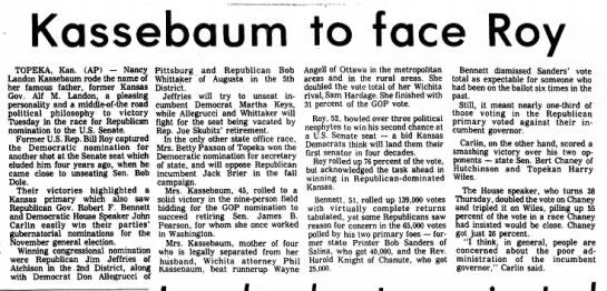 Kassebaum Aug 2 1978 -