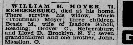 William H. Moyer death -