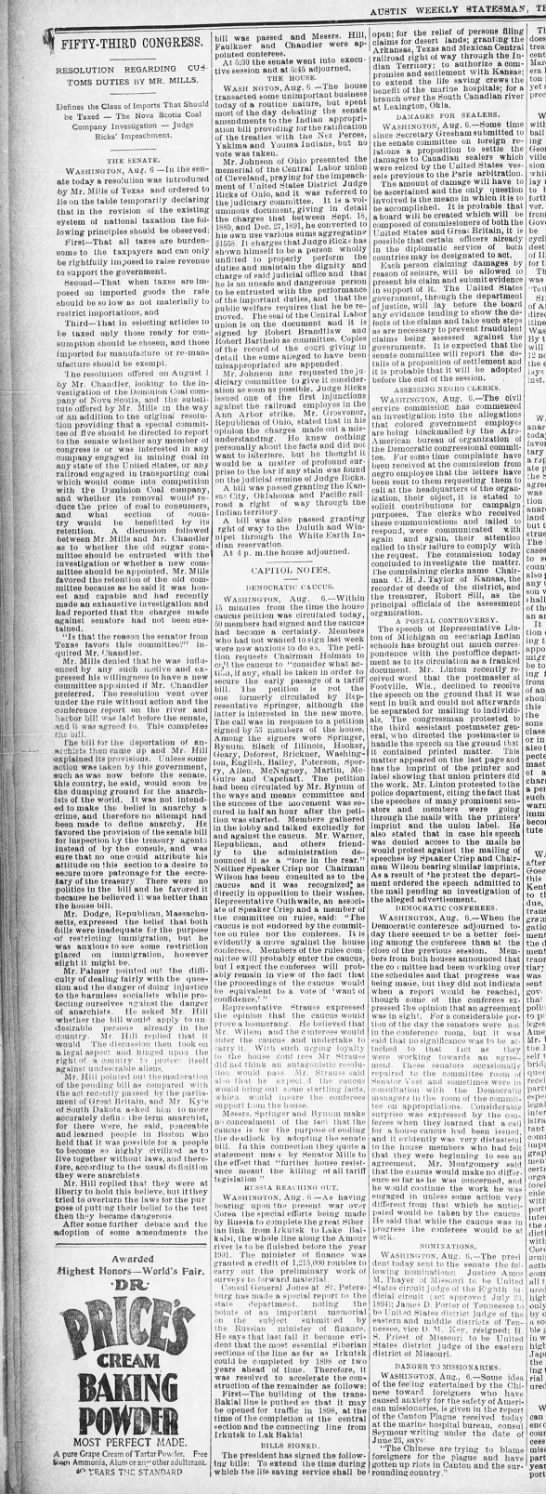 09 AUG 1894 FRI, THE AUSTIN WEEKLY STATESMAN, PAGE 8, SECTION 1 -