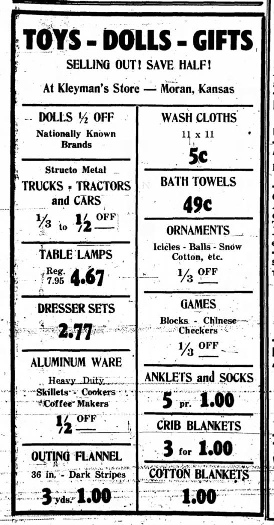 Kleyman's Store - 1957 -