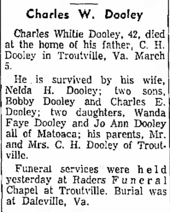 Charles Whitie Dooley -