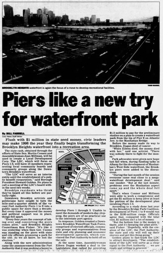 Piers like a new try for waterfront park -