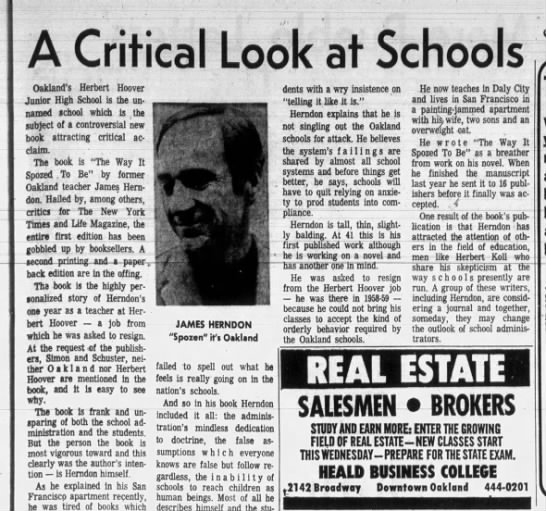 A Critical Look st School - Mar 24, 1968 -
